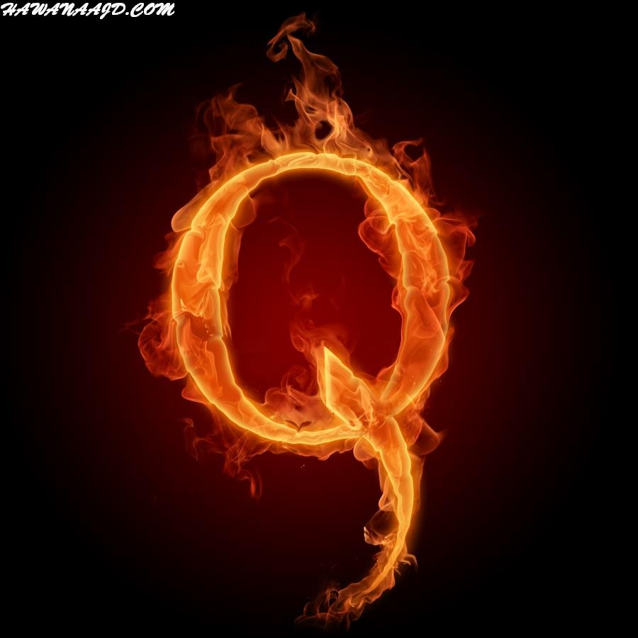 صور حرف Q ناري