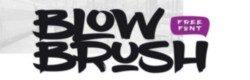 blowbrush Fonts