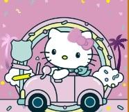 لعبة سيارات الهالو كيتي