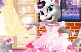 لعبة تلبيس القطة انجلينا