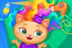 لعبة قص شعر القطط