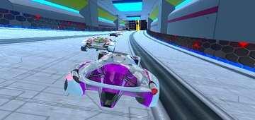 لعبة سباق سيارات المستقبل
