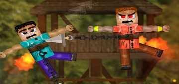 معركة شخصيات ماين كرافت